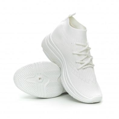 Дамски Chunky маратонки тип чорап в бяло it150319-42 3