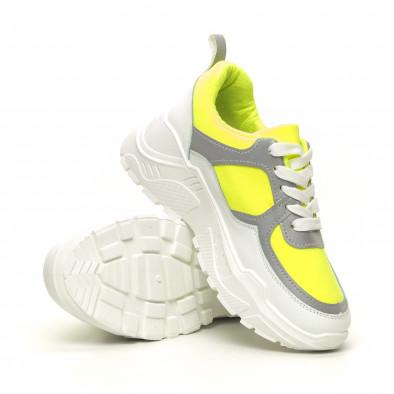 Дамски Chunky маратонки неоново зелено it050619-60 4