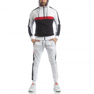 Бял мъжки спортен комплект с ленти ss-NB-11A-NB-11B 3