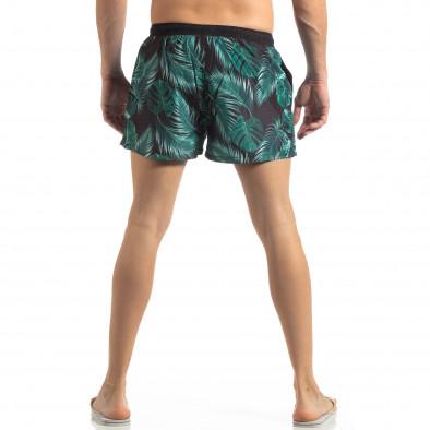 Зелен мъжки флорален бански с кантове it250319-15 3