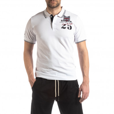 Мъжка тениска polo shirt Royal cup в бяло it210319-75 2