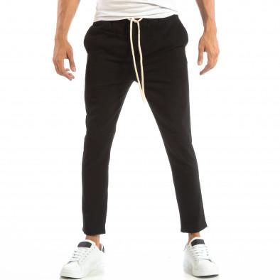 Лек мъжки панталон тип Jogger в черно it240818-67 2