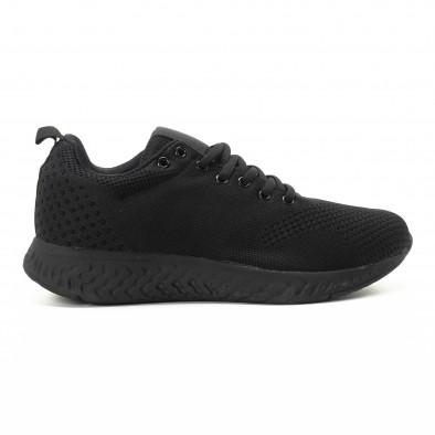 Плетени мъжки черни маратонки  it301118-5 2