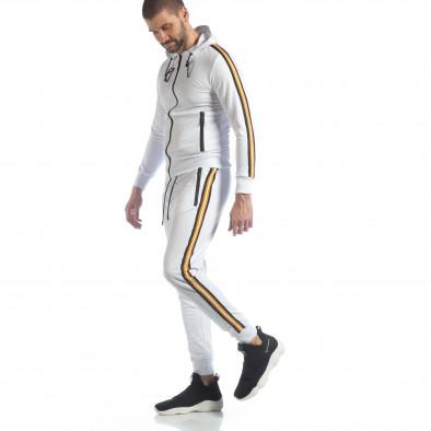5 striped мъжки спортен комплект в бяло ss-NB-12A-NB-12B 2