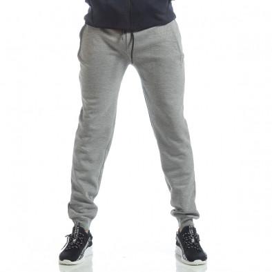 Сиво-син спортен мъжки комплект с качулка ss-LP216-LP211-1 5