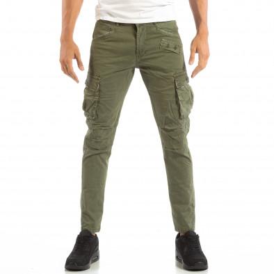 Зелен мъжки карго панталон с място за аксесоар it240818-1 3