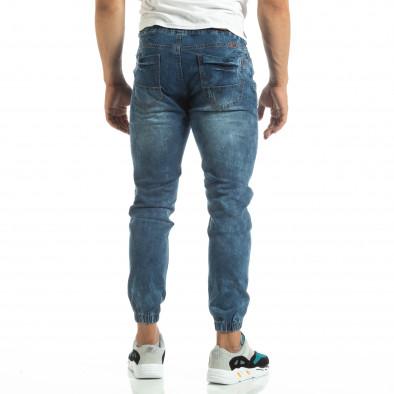 Мъжки тънки дънки тип Jogger в синьо it120619-1 4