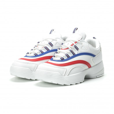 Дамски маратонки в бяло с ивици it250119-88 4