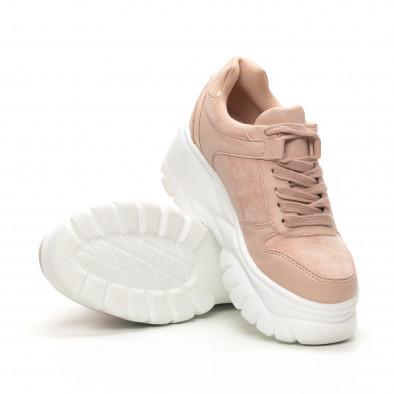 Chunky дамски маратонки в розово it150419-121 4