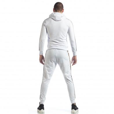 5 striped мъжки спортен комплект в бяло ss-NB-12A-NB-12B 6