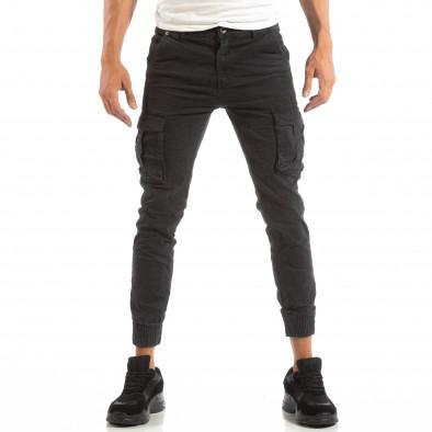 Рокерски сив панталон карго джогър it240818-8 3