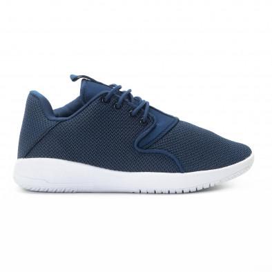 Мъжки текстилни олекотени маратонки в синьо it301118-2 2