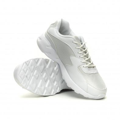 Мъжки ултралеки маратонки с дебела подметка в бяло it040619-10 4