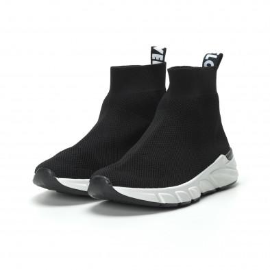Черни дамски маратонки тип чорап it250119-59 4