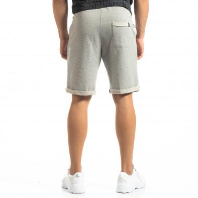 Мъжки сиви шорти на тънко райе it150419-115 3