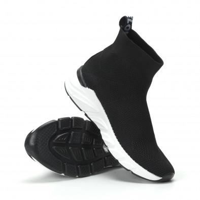 Черни дамски маратонки тип чорап it250119-59 5