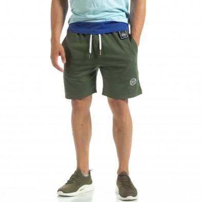 Мъжки шорти трико в зелено it120619-14 2