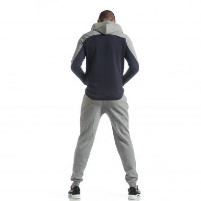 Сиво-син спортен мъжки комплект с качулка ss-LP216-LP211-1 6