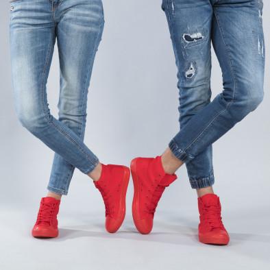 Високи червени кецове за двойки cs-red-B341-B339 2