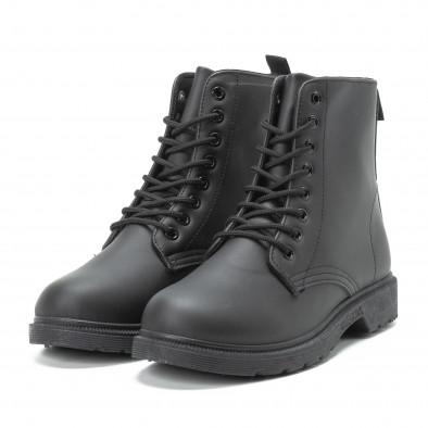 Basic черни дамски боти it140918-58 3