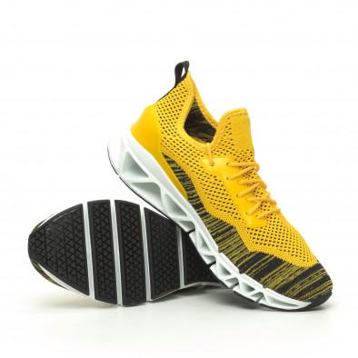 Мъжки маратонки Knife жълто it050719-2 4