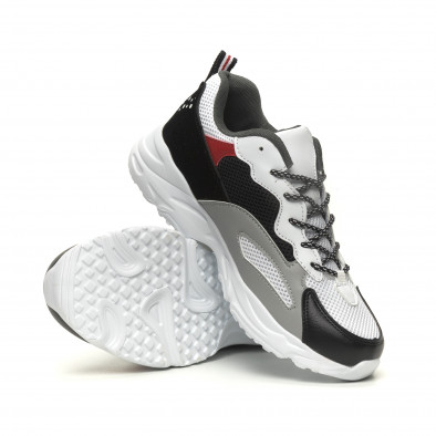 Комбинирани мъжки Chunky маратонки в бяло it040619-9 4