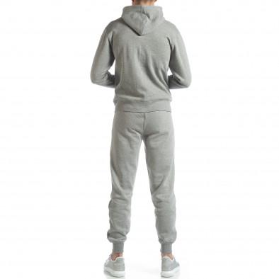 Basic мъжки памучен суичър в сиво it051218-40 3