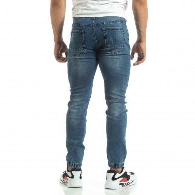Мъжки сини рокерски дънки тип Jogger it120619-4 4