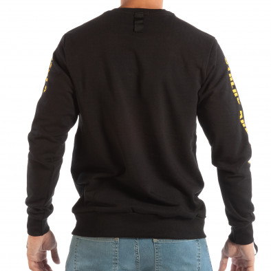 Черна мъжка памучна блуза EXPLICIT it240818-143 4