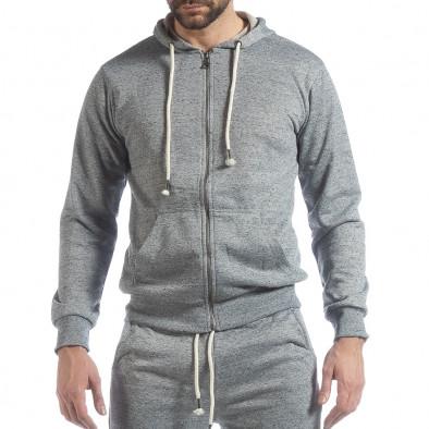 Спортен мъжки комплект в сив меланж ss-M5100-K7360-1 4