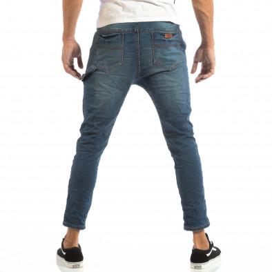 Сини мъжки дънки с ластик на кръста it240818-45 4