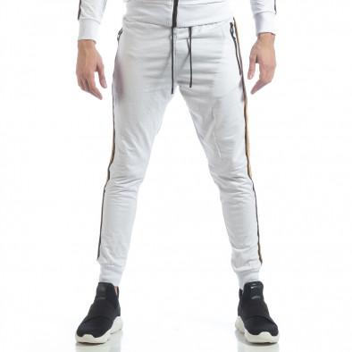 5 striped мъжко бяло долнище it040219-64 3