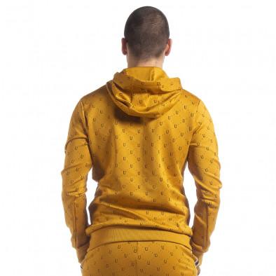 Мъжки жълт суичър с акценти it040219-112 4