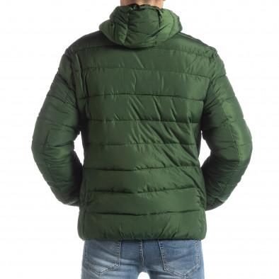 Мъжка зелена пухенка с черни части it051218-65 4
