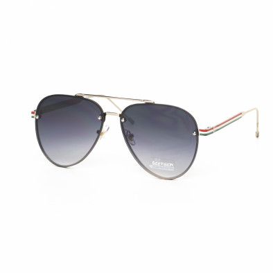 Пилотски очила с плоски стъкла сиво опушено it030519-9 2