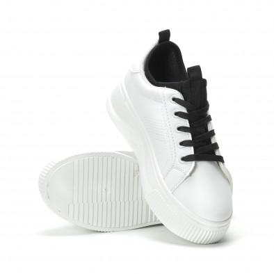 Бели дамски кецове с вграден чорап it250119-85 4