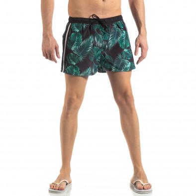 Зелен мъжки флорален бански с кантове it250319-15 2