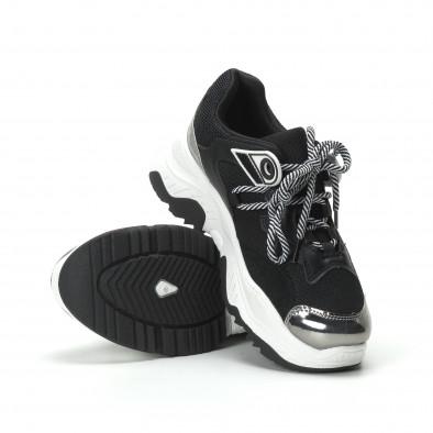 Хитови дамски маратонки в черно и бяло it250119-34 5