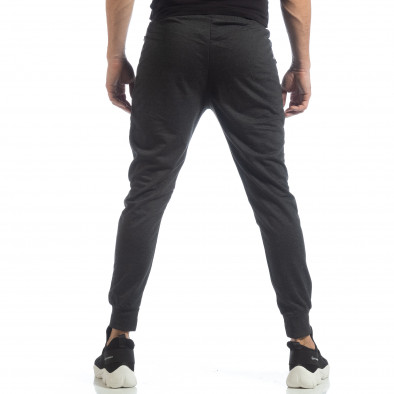 Мъжки джогър тип Biker в тъмно сиво it040219-47 3