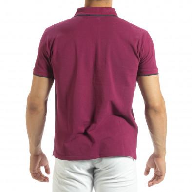 Мъжка тениска polo shirt в червено it120619-27 3