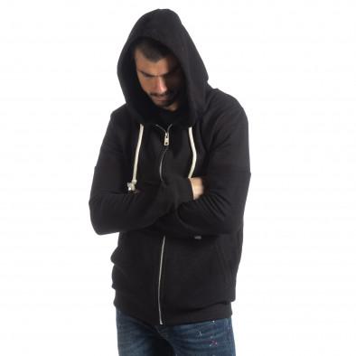 Basic мъжки черен памучен суичър it051218-34 4