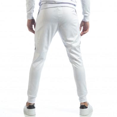 Бяло мъжко долнище от ефектна материя it040219-75 4