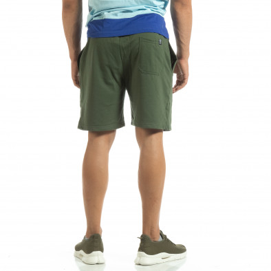 Мъжки шорти трико в зелено it120619-14 3