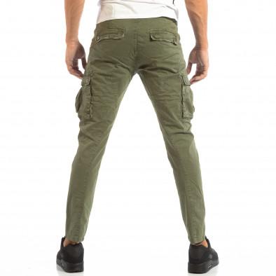 Зелен мъжки карго панталон с място за аксесоар it240818-1 4