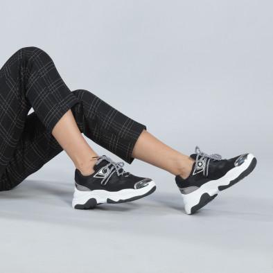 Хитови дамски маратонки в черно и бяло it250119-34 2