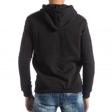 Черен ватиран мъжки суичър ICONS it051218-49 3