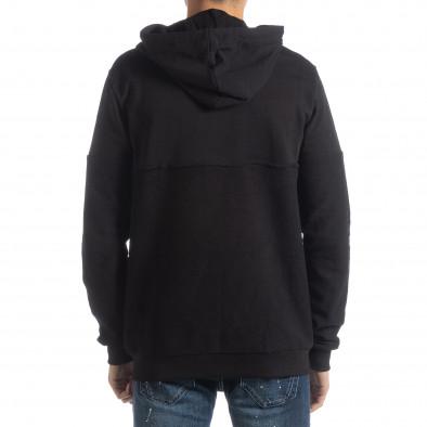 Basic мъжки черен памучен суичър it051218-34 3