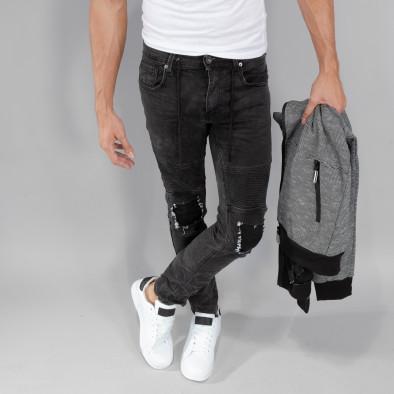 Рокерски сиви мъжки дънки Slim fit it250918-19 3