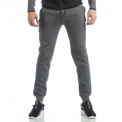 Сиво-черен спортен мъжки комплект с качулка ss-LP216-LP211 5