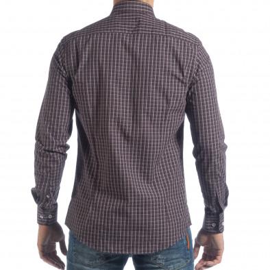 Мъжка памучна риза Slim fit синьо каре it040219-124 4